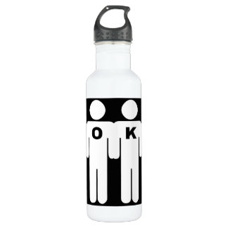 OK TO BE GAY - .png 24oz Water Bottle
