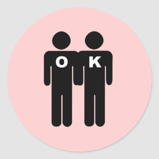 OK TO BE GAY STICKERS