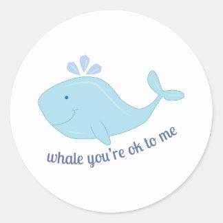 Ok To Me Round Stickers