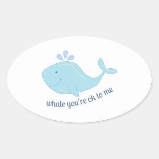 Ok To Me Oval Stickers