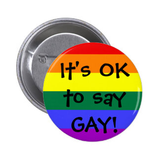 OK to say GAY Button
