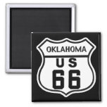 OK US ROUTE 66 2 INCH SQUARE MAGNET