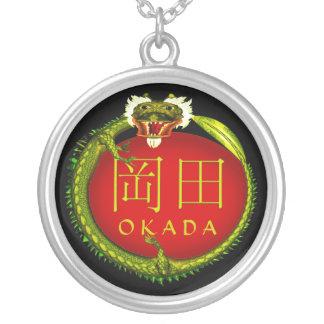 Okada Monogram Dragon Silver Plated Necklace