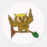 Okala Owl Round Stickers