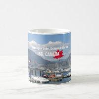 Okanagan Lake, Kelowna Marina, BC Canada Coffee Mug