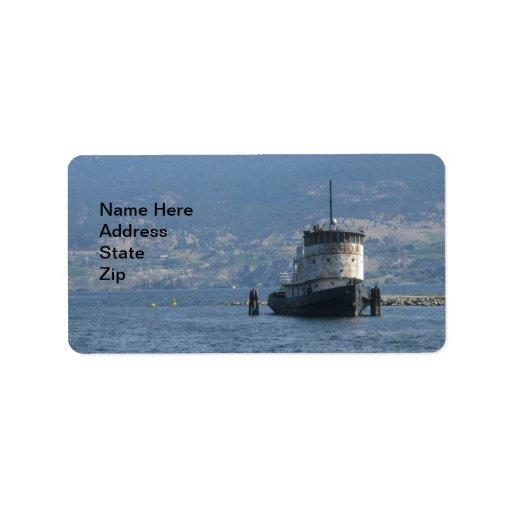 Okanagan Lake Steamship Address Label