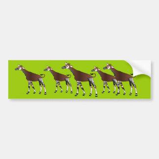 Okapi Bumper Sticker Car Bumper Sticker