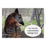 Okapi Butt Greeting Card