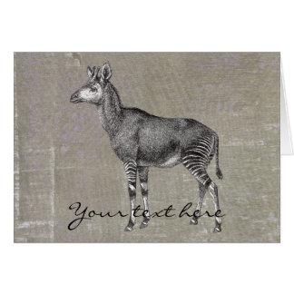 Okapi del vintage felicitacion