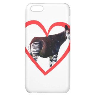 Okapi Heart Cover For iPhone 5C