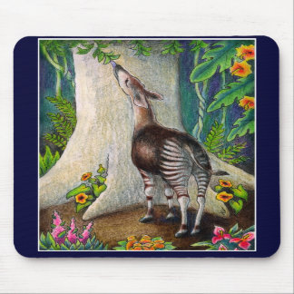 Okapi in Rainforest Mousepad