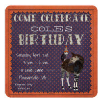 OKAPI & OWL POLKADOT  Birthday Invitation