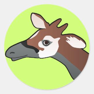 Okapi round Sticker