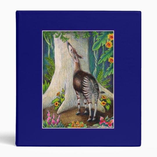"""Okapi """"Save the Rainforest"""" Binder"""