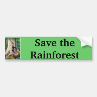 Okapi Save the Rainforest Car Bumper Sticker