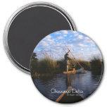 Okavango Delta 3 Inch Round Magnet