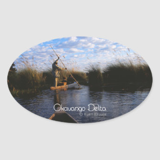 Okavango Delta Oval Sticker