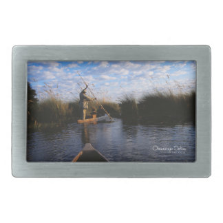 Okavango Delta Rectangular Belt Buckle