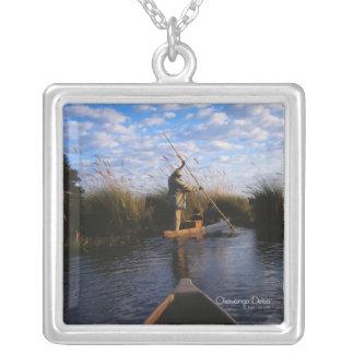 Okavango Delta Silver Plated Necklace
