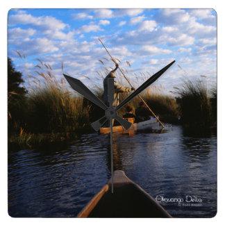 Okavango Delta Square Wall Clock