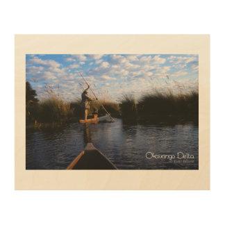 Okavango Delta Wood Print