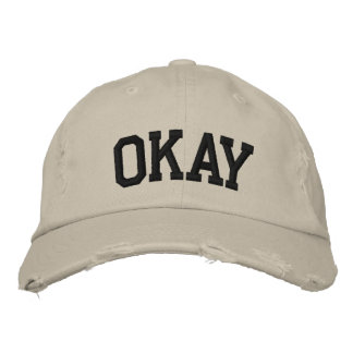 Okay Embroidered Hat Embroidered Baseball Cap
