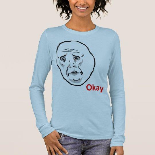 Okay Face Guy Long Sleeve T-Shirt