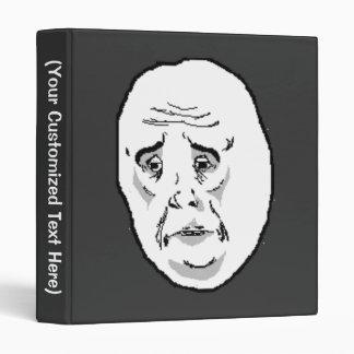 Okay Guy Face Vinyl Binder
