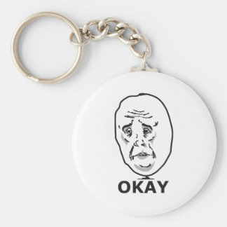Okay Guy Meme Basic Round Button Keychain