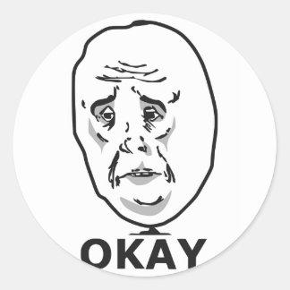 Okay Guy Meme Classic Round Sticker