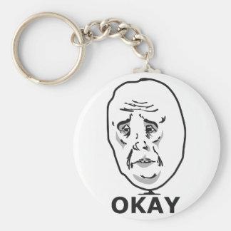Okay Guy Meme Key Chain