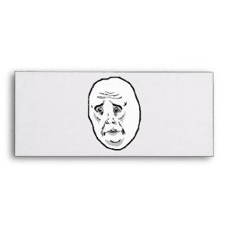 Okay Guy Rage Face Meme Envelopes