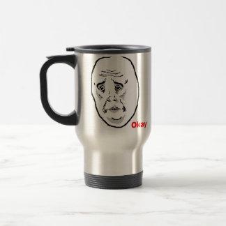 Okay Guy Rage Face Meme 15 Oz Stainless Steel Travel Mug