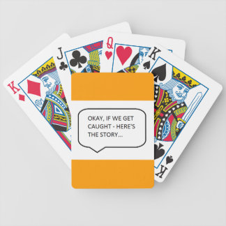 OKAY IF WE GET CAUGHT, HERE'S THE STORY FUNNY HUMO PLAYING CARDS