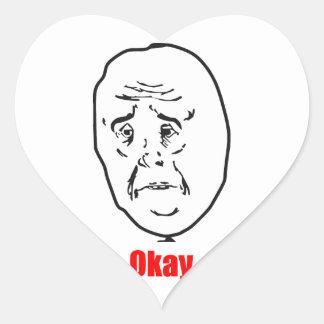 Okay - Meme Heart Sticker
