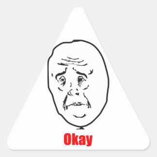 Okay - Meme Triangle Sticker