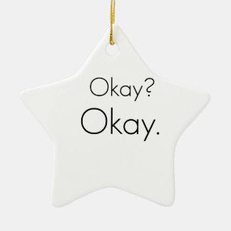 Okay? Okay. Double-Sided Star Ceramic Christmas Ornament