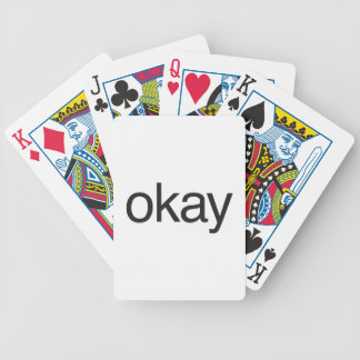 okay bicycle playing cards