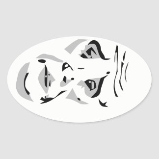 okay web comic face meme oval sticker