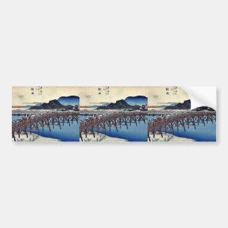 Okazaki by Ando, Hiroshige Ukiyoe Bumper Sticker