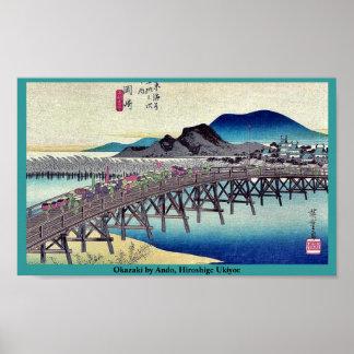 Okazaki by Ando Hiroshige Ukiyoe Print