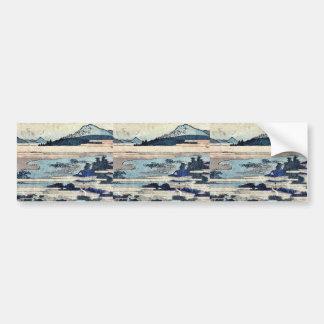 Okazaki  by Katsushika, Hokusai Ukiyoe Bumper Sticker