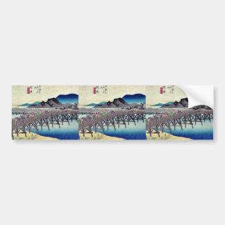 Okazaki por Ando, Hiroshige Ukiyoe Pegatina Para Auto