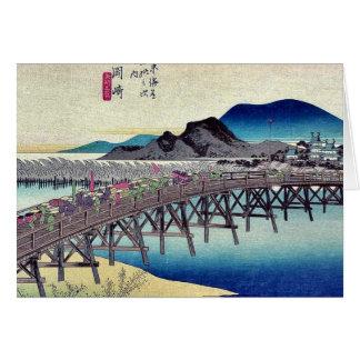 Okazaki por Ando, Hiroshige Ukiyoe Tarjeta De Felicitación