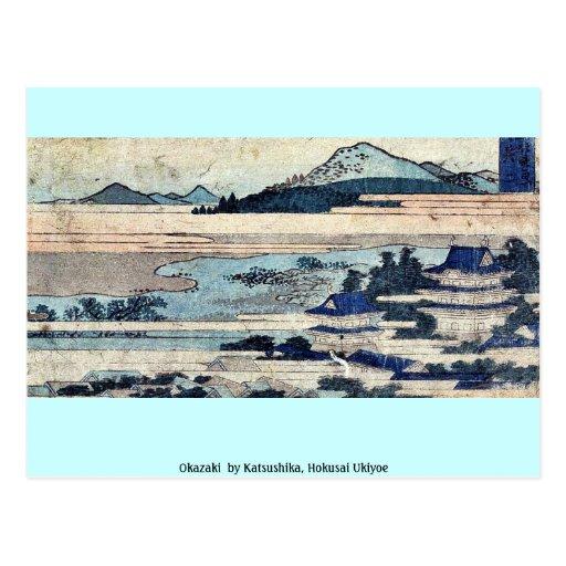 Okazaki por Katsushika, Hokusai Ukiyoe Postal