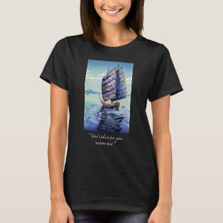 Okazaki Shintaro Seto Inland Sea in Moonlight art T-Shirt