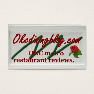 OKCdiningblog.com business cards