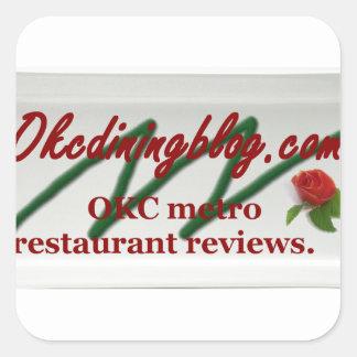 OKCdiningblog.com design 1 Square Sticker