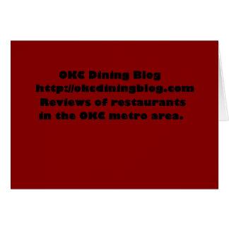 OKCdiningblog.com design 2 Card