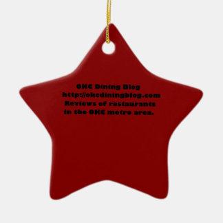 OKCdiningblog.com design 2 Double-Sided Star Ceramic Christmas Ornament